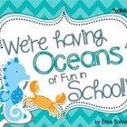 We're Having Oceans of Fun in School  Door Decor - Editable