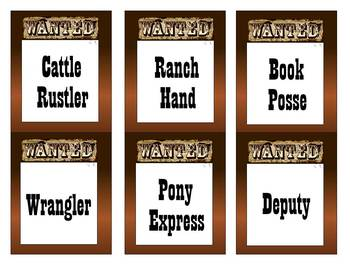 Western / Cowboy Classroom Organization and Decor Set