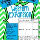 Western Expansion Vocabulary Word Sort