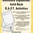 Western Expansion/Gold Rush R.A.F.T. Activities