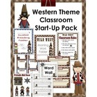 Western Theme Classroom Start-Up Pack