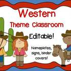 Western Theme Signs, Binder Covers, Labels and Nameplates