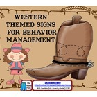 Western Themed Behavior Management Signs
