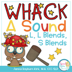 Whack A Sound L, L Blends, S Blends: Self Checking Articul