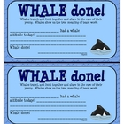Whale Done Award