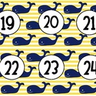 Whale Numbers 1-30 - Nautical Theme!