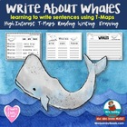 "Whales ""are"" ""can"" ""have"" -writing response tree map"
