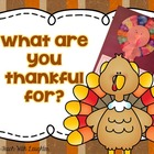 What Are You Thankful For? Writing and Craftivity