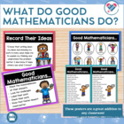 What Do Good Mathematicians Do? Posters and Handout Set! V