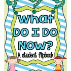 What Do I Do Now?  Student Flipbooks for Students Who Have