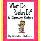 What Do Readers Do? Classroom Poster Freebie Pack