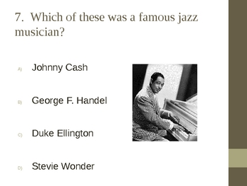 What Do You Know about African American Music? PPT