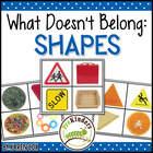 What Doesn't Belong: Shapes (Visual Discrimination Skills, Pre-K)