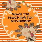 What I'm Teaching for November Pack { many activities ccss