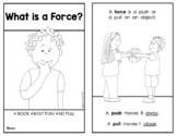 """FORCE and MOTION: """"What Is A Force?"""" {Emergent Science Reader}"""