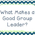 What Makes A Good Group Leader Reading TCAP Practice