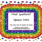 What Questions Speech Practice Task (File Folder)