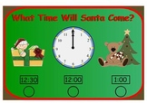 What Time Will Santa Come? Time to the Hour and Half Hour