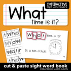 "Interactive Sight Word Reader ""What Time is It"""