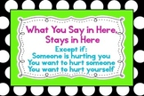 "What You Say in Here Stays in Here 23""x35"" Poster"