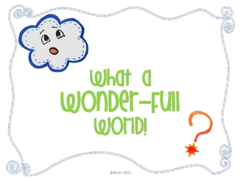 What a Wonder-Full World!