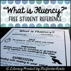 """""""What is Fluency? {FREE} Fluency Student Reference"""