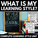 What is My Learning Style? - Survey, Foldable, Worksheets,