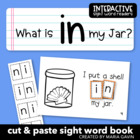 "Interactive Sight Word Reader ""What is in my Jar?"""