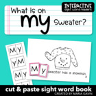 "Interactive Sight Word Reader ""What is on my Sweater?"""
