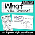 "Interactive Sight Word Reader ""What is that Dinosaur?"""