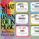 What to Listen for in Music Bulletin Board Set