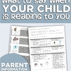 """""""What to Say When Your Child is Reading to You"""" Parent Handout"""