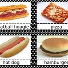 What's For Lunch?  Menu Choices Clipart