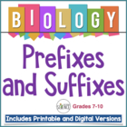 What&#039;s In A Name?  A Study of Biological Prefixes and Suffixes