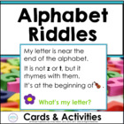 What's My Letter? Alphabet Riddles