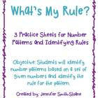 What's My Rule? Number Pattern Practice Sheets