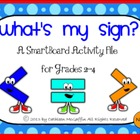 """What's My Sign""? Greater Than/Less Than/Equal to SmartBoard File"