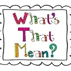 What&#039;s That Mean? vocabulary strategy posters