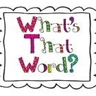 What&#039;s That Word? reading strategy posters
