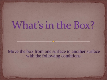 What's in the Box? Improvisation/Movement Exercise