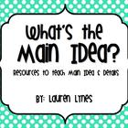 What's the Main Idea? {Resources to Teach Main Idea & Details}