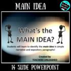 What's the Main Idea? - Test Prep Style PowerPoint and Test Prep