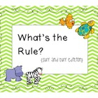 What's the Rule? {surf and turf edition}