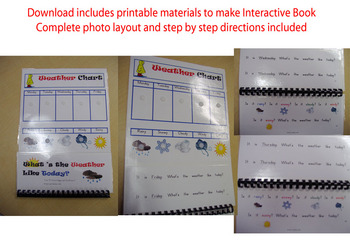 What's the Weather? Interactive Book - Printable