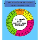 Wheel of 2nd Grade Math Common Core Standards