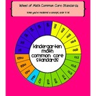 Wheel of Kindergarten Math Common Core Standards