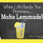 When Life Hands You Pronouns.... Make Lemonade!!