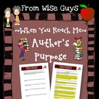 FREE When You Reach Me Author's Purpose Activity (Key included)
