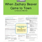 When Zachary Beaver Comes to Town Complete Literature and 