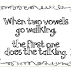 """When two vowels go walking..."" Word Sort and Flashcards"